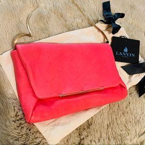 NWT Lanvin Paris Pink Leather Crossbody
